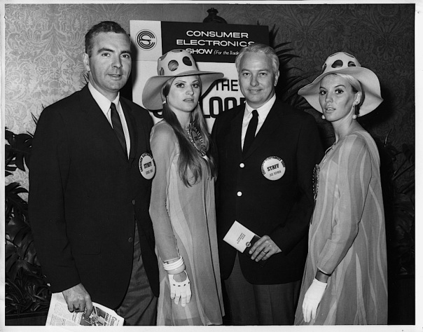 "Consumer Electronics Show 1967: Even in 1967, there were ""booth babes,"" here referred to as ""CES Guides."" The first CES was notable for the increasing dominance of solid-state electronics and an influx of Japanese manufacturers."