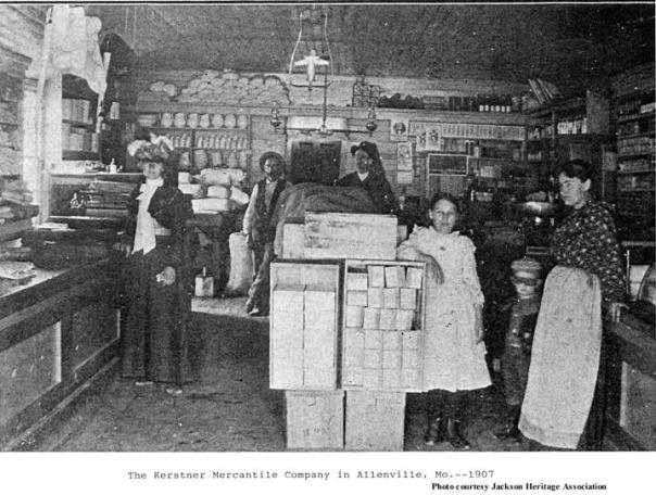 The Kerstner Mercantile Company, Allenville Mo. 1907